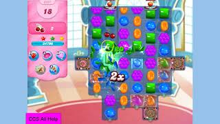 Candy Crush Saga Level 3127 in 16 moves NO BOOSTERS