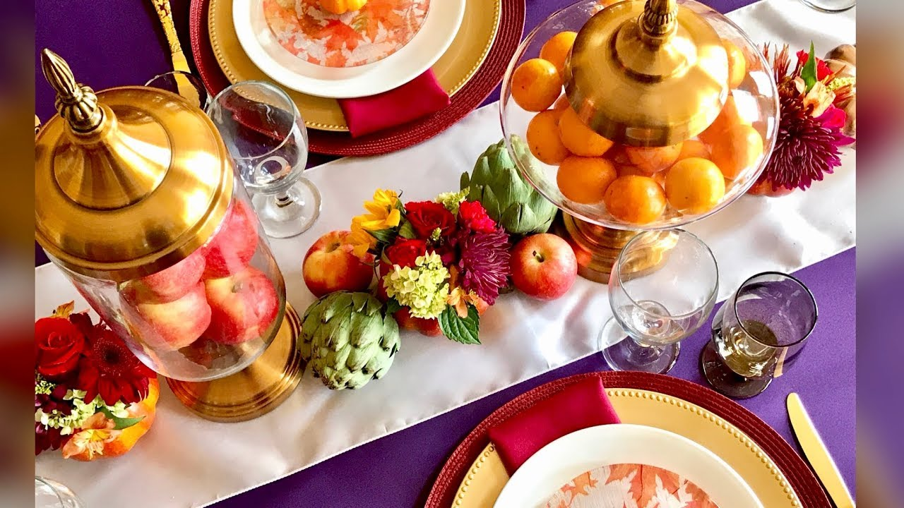 Gorgeous Jewel Tone Fall Tablescape | My Favorite Autumn Table Setting & Gorgeous Jewel Tone Fall Tablescape | My Favorite Autumn Table ...