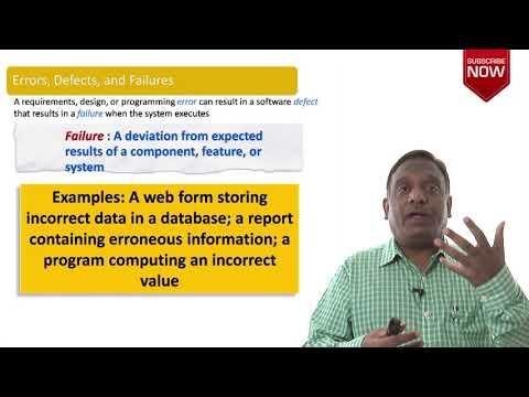 Software Testing Tutorials - ISTQB Certification : Chapter 1 - Testing Basics (Error-Fault-Failure)