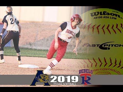 2019 TSSAA Softball Arlington @ Tipton Rosemark Academy