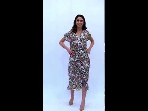 Video: Wiskozowa sukienka w kwiatowy wzór