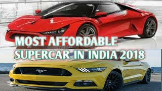 TOP 5 most Affordable Supercars/Sportcars in INDIA 2018 car guru