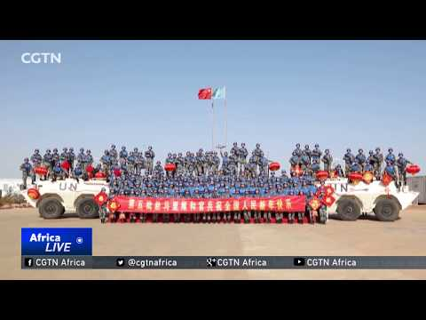 Peacekeepers stationed in Mali celebrate the Spring Festival