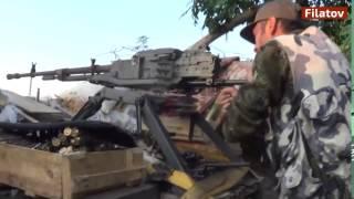 Война видео Украина Донбас  АТО Бой Ополчения на позициях поселка Спартак Donbass   YouTube