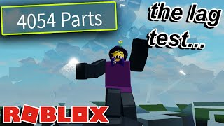 a roblox LAG TEST game almost destroyed my computer LOL