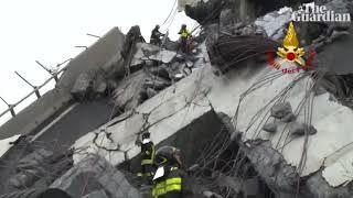 Video mới nhất về thảm họa sập cầu ở ITALY- Bridge Collapse in Italy