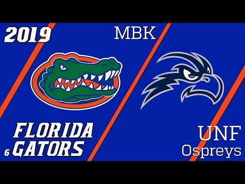 2019-20 Florida Gators Basketball Vs UNF Condensed