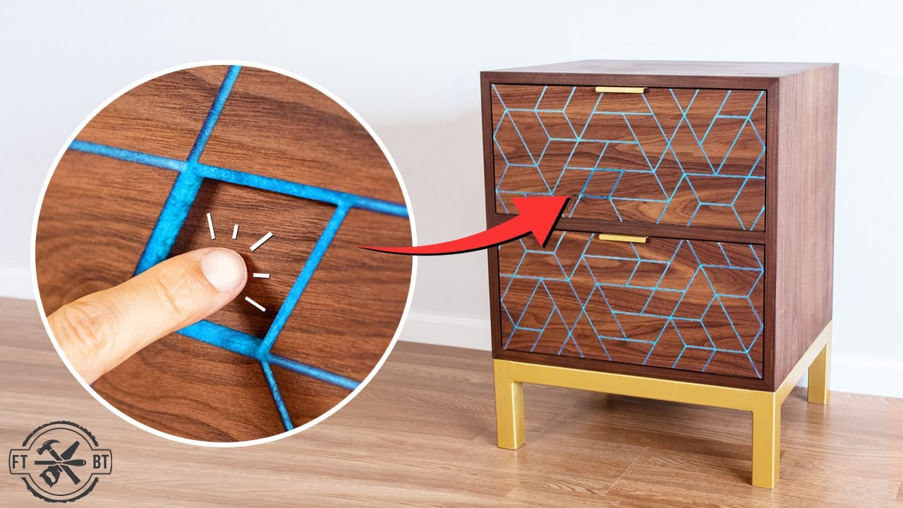 Making a Nightstand with Hidden Drawer & Epoxy Inlay