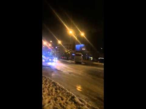 Bus Slides on Ice - Jordan