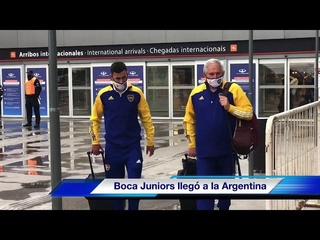 ¡Después del triunfo en Colombia, Boca Juniors llegó a la Argentina!