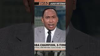 Shaq laughs at Stephen A. for bringing up the Knicks 😂😆 | #Shorts