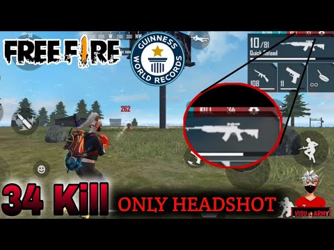 34 Kill 👽|| 🔥Free fire World Records 🔥|| Most kill in Headshot||Must Watch-harena free fire..