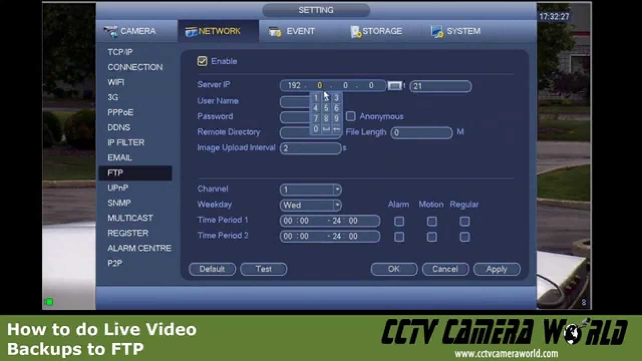 How to do Live Video Backup from your DVR to a FTP Server