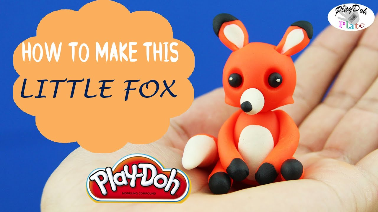 play doh little fox learn how to make a cute little fox. Black Bedroom Furniture Sets. Home Design Ideas