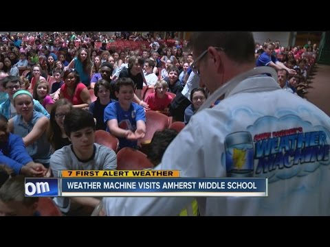 Weather Machine Visits Amherst Middle School