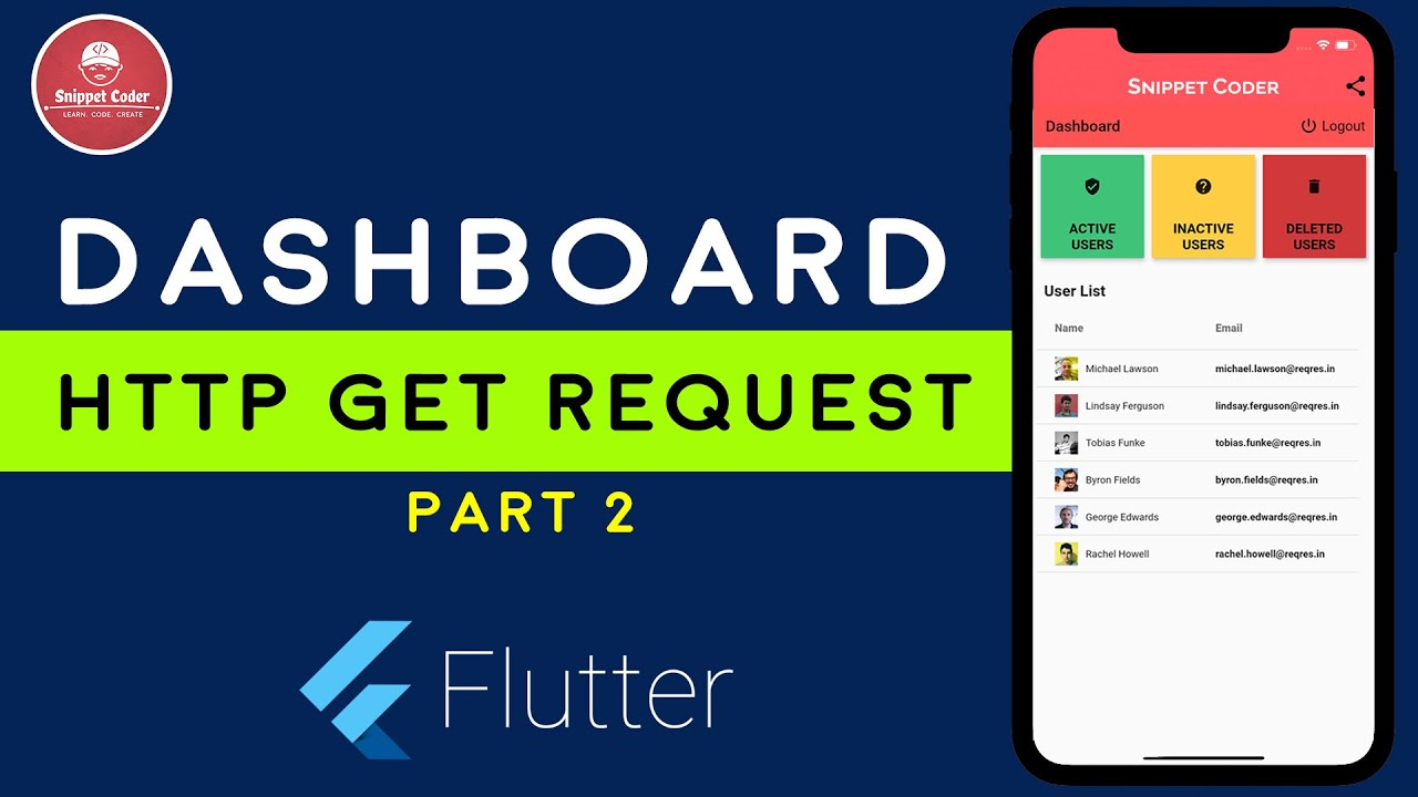 [Flutter]Dashboard Screen with HTTP Get Request | SnippetCoder | LEARN.CODE.CREATE |Part-2