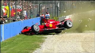 Raikkonen crash monza - FP3 2007