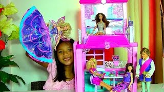 Barbie Glam Vacation House Monster High Clawdeen Wolf Scares Barbie Dolls