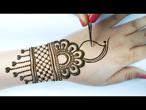 आसान गोल टिक्की मेहँदी डिज़ाइन लगाना सीखे -Easy Arabic Mehndi Design for hands, Stylish Mehndi Design