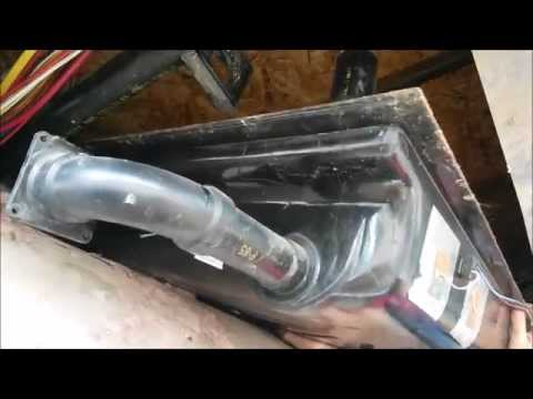 (:HowTo:) Permanently Fix a Leak/Crack in an RV Black or Grey Water Holding Tank ~#3 Dropping a Tank
