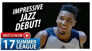Donovan Mitchell NASTY Jazz Debut Highlights vs Spurs (2017.07.03) Summer League - 23 Pts, 5 Ast!