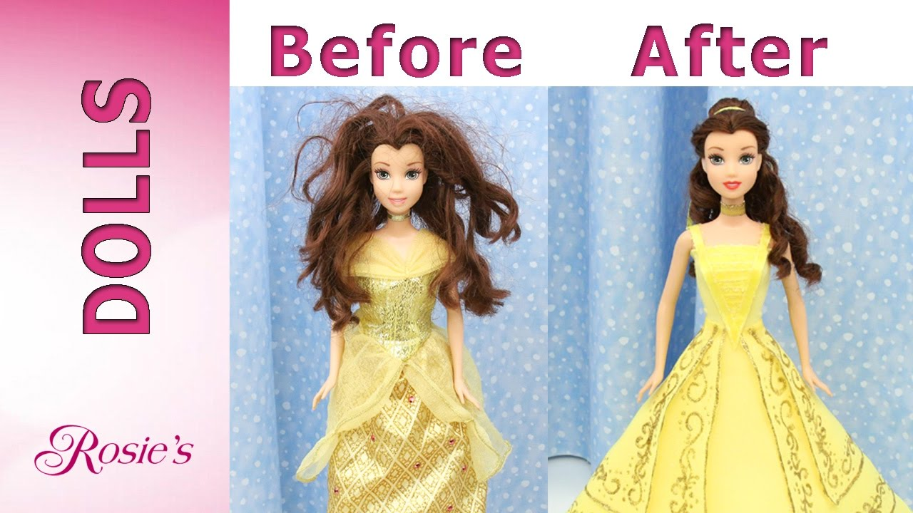 Beauty And The Beast Belles Makeover Part 4 Emma Watsons Yellow Dress