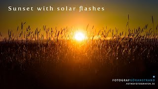 Real time green and blue solar flashes