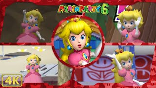 All Minigames (Peach gameplay)   Mario Party 6 ⁴ᴷ