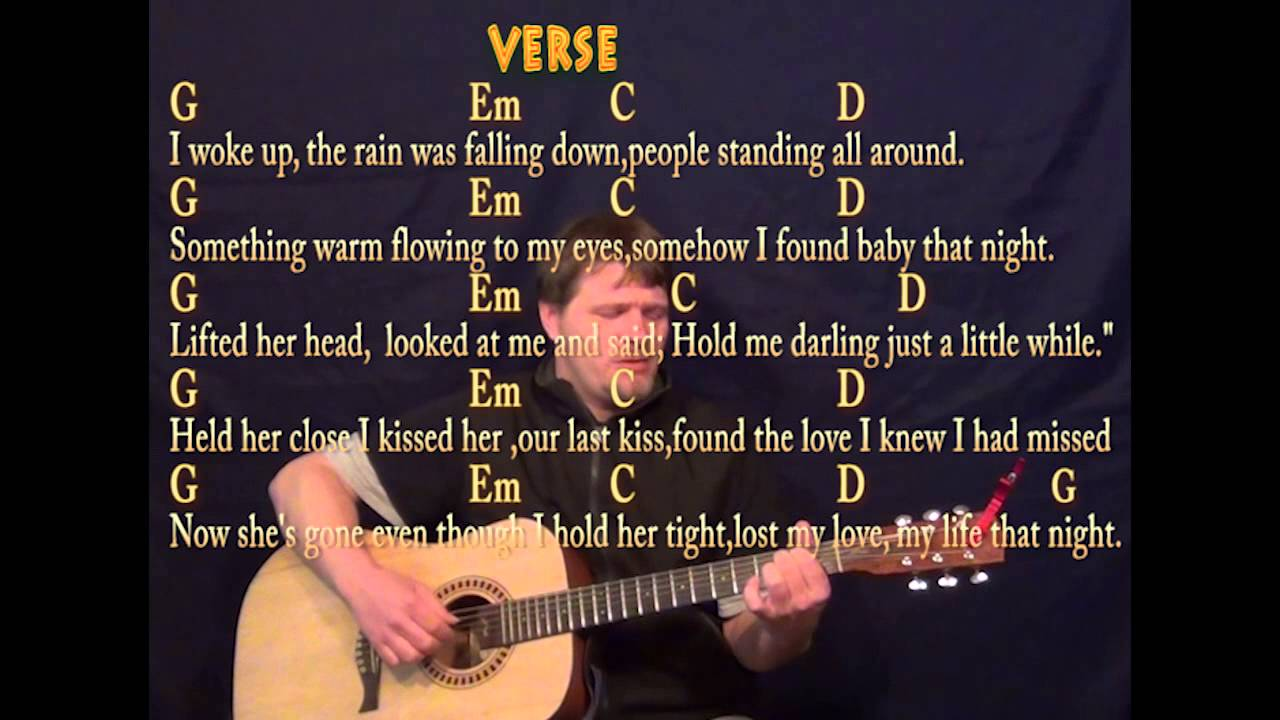 Last Kiss Pearl Jam Fingerstyle Guitar Cover Lesson with Chords/Lyrics