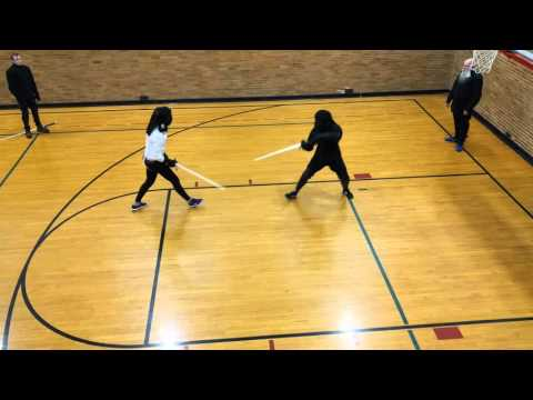 Omaha Kunst des Fechtens - Longsword match Angel vs Amelia