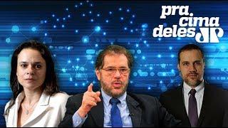 #PraCimaDeles com deputada Janaina (PSL-SP), senador Plínio Valério (PSDB-AM) e Felipe Moura Brasil