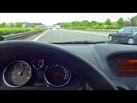 Opel Antara POV Autobahn Top Speed Run