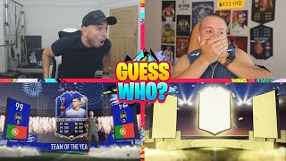 OMG WE PACKED TOTY RONALDO!!! INSANE GUESS WHO FIFA vs @REEV!!! (TOTY RONALDO PACK)
