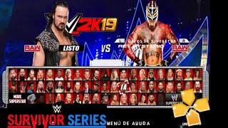 NUEVO WWE 2K19 ppsspp en español !! Arena Survivor Series 2018 + roster actualizado