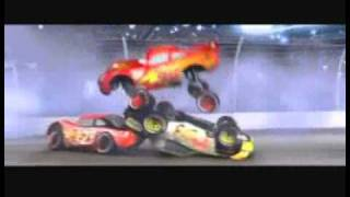 Cars (2006) scenes - Huge Crash (Get through that McQueen!)
