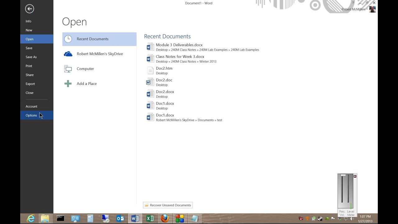 How to turn off the start screen wizard in Microsoft Word 2013 ...