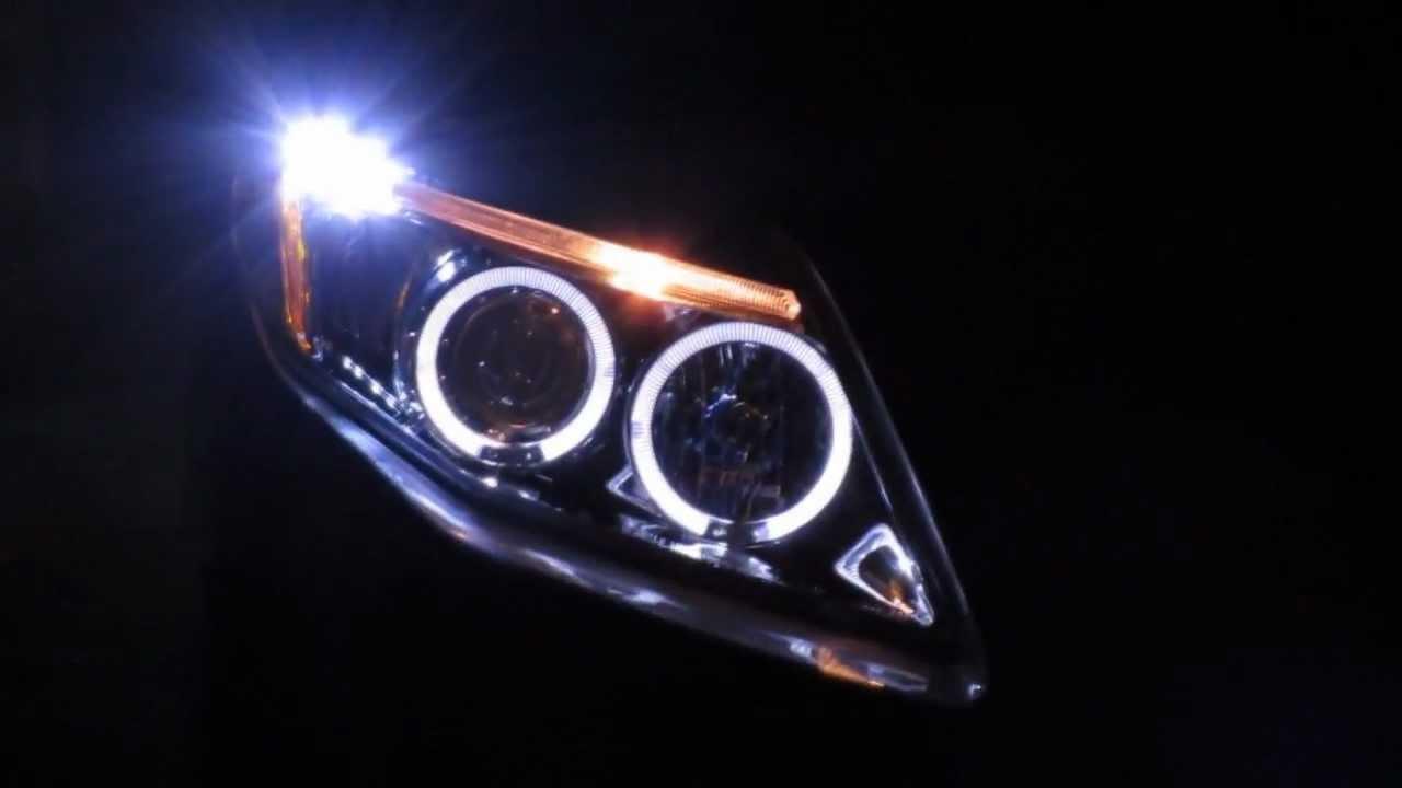 Farol angel eyes toyota corolla corolla projector head lights youtube