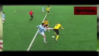 Dirty Football Moments | Brutal Tackle with red card on wrong kicking