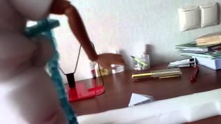 видео–обзор на самодельную одежду Снегурочки (из поролона)