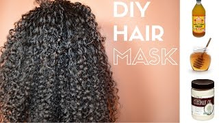 DIY Hair Mask for Soft, Moisturized, Defined Curls