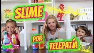 SLIME POR TELEPATIA!! TWIN TELEPATHY SLIME CHALLENGE!! DANIELA VS MARTINA VS VALERIA