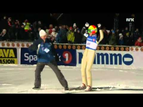 Skijumping Johan Remen Evensen 246,5m Vikersund 2011 (Old World Record)