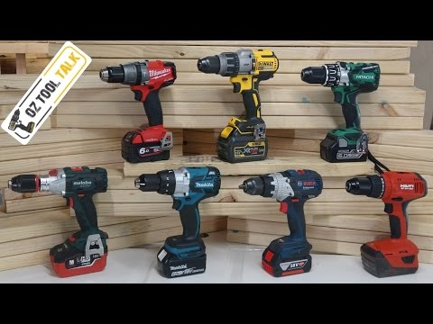 Brushless 18V Hammer Drill Fight - Milwaukee, Makita, Dewalt, Bosch, Hilti, Hitachi & Metabo