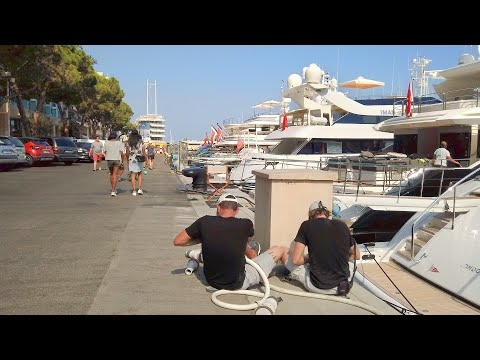 Walking Monaco's FAMOUS HARBOUR filled with LUXURY YACHTS