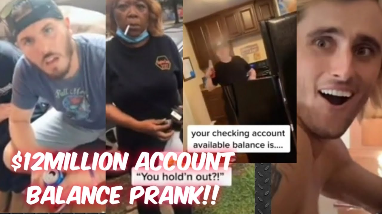 Tiktok Bank Account Balance Prank Compilation Youtube