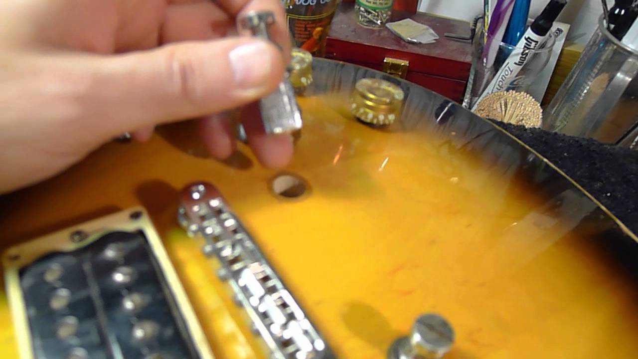 gibson les paul grounding tip by bill baker why is my guitar noisy guitar electronic parts and diagrams guitar bridge wiring [ 1280 x 720 Pixel ]
