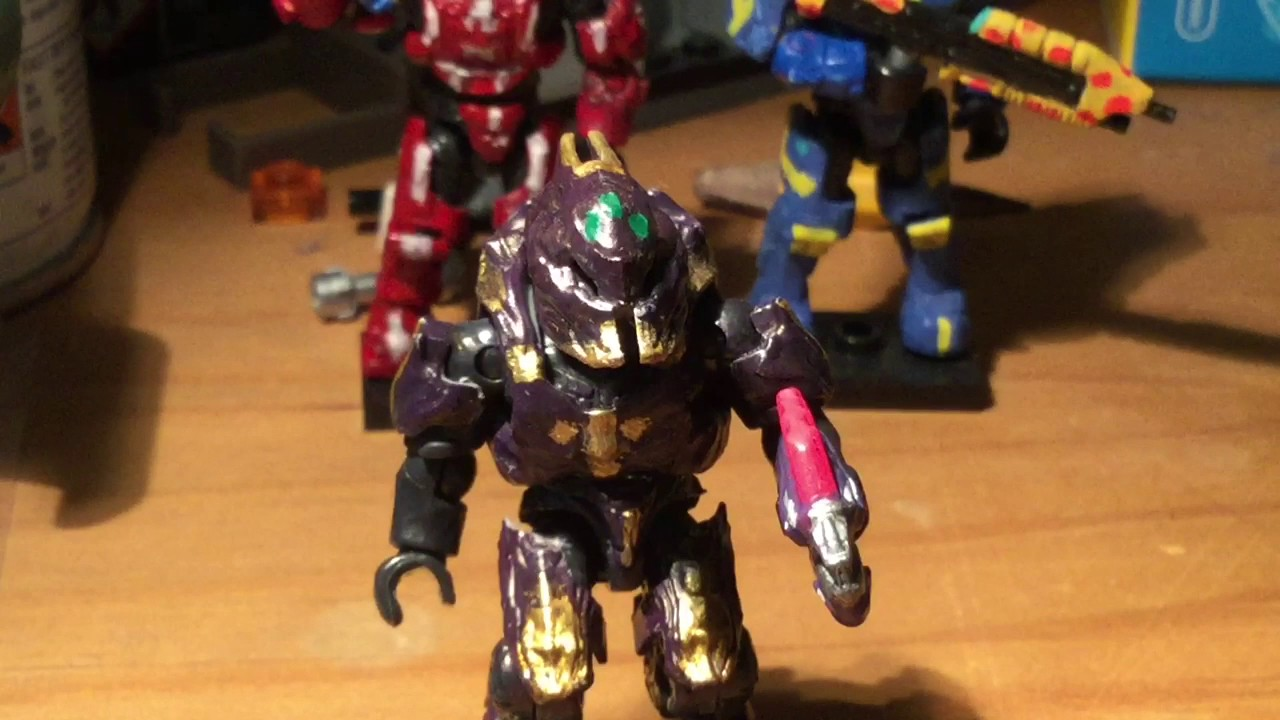 Halo megabloks custom figures 3 (elite zealot)