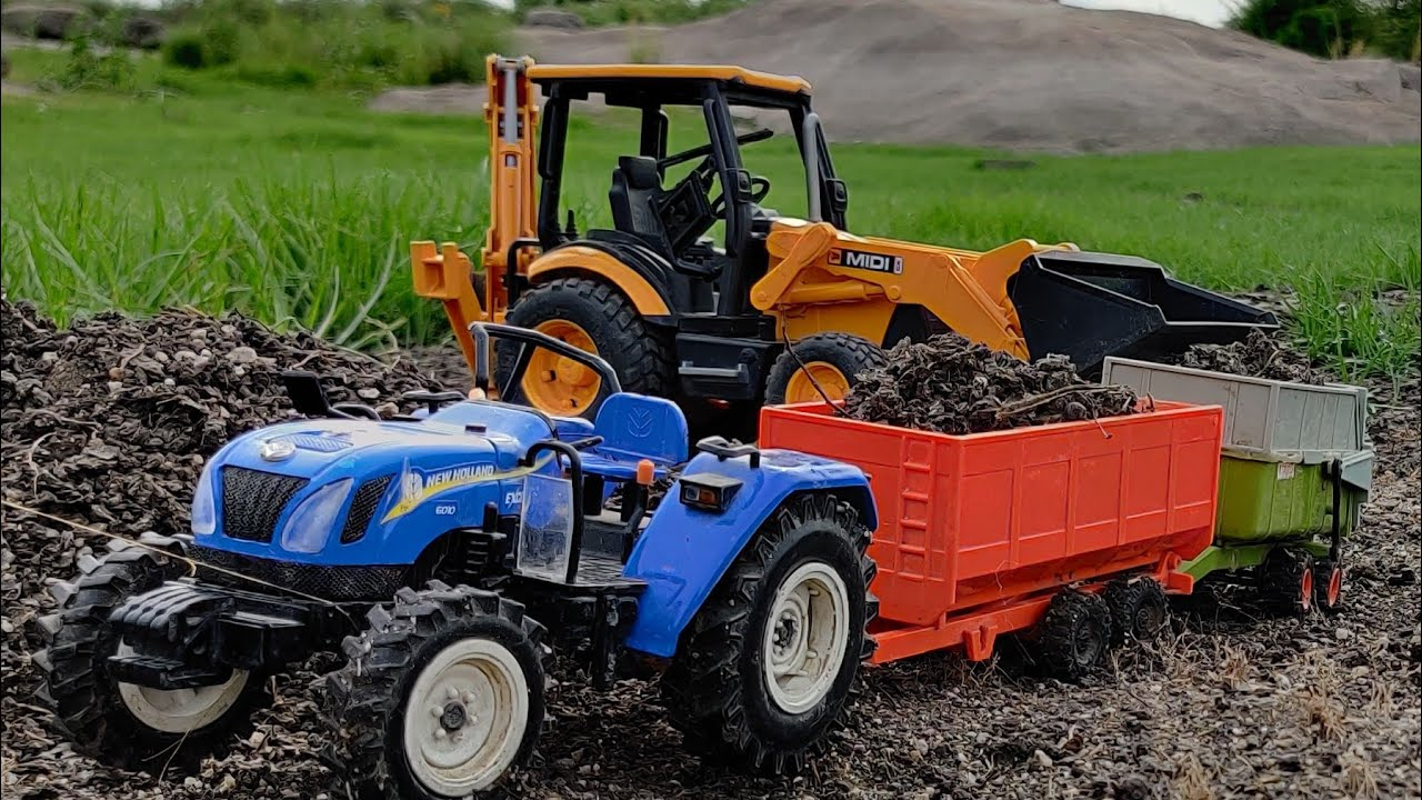 New Holland 4wd Tractor Fully Loaded By Jcb Machine Tractor Jcb Videos Youtube