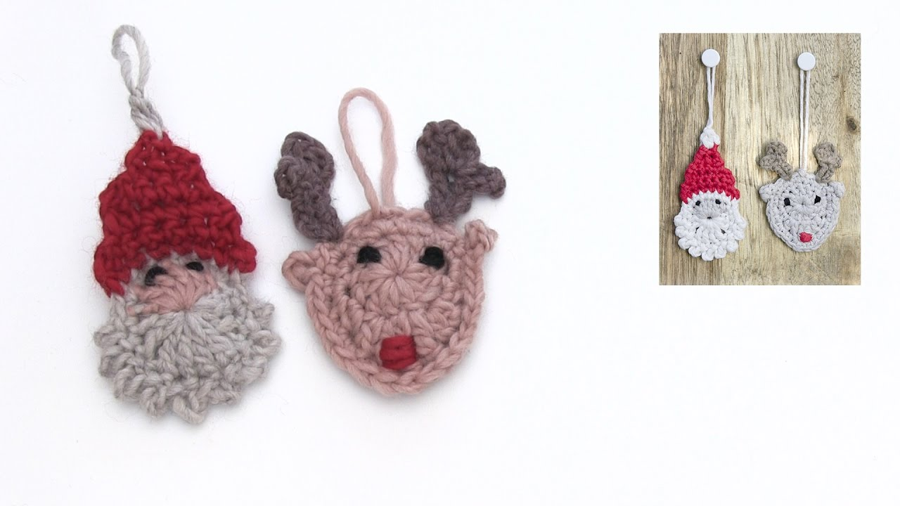 How to crochet the Santa and the reindeer for Christmas in DROPS ...