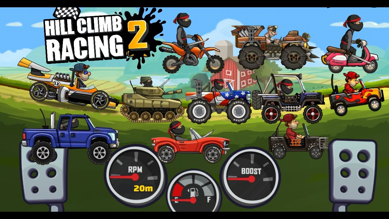 Hill Climb Racing 2 All Vehicles Rare Paint Challenge Cup Drive Cars Play